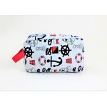 9243- ANCHOR DESIGN COSMETIC BAG