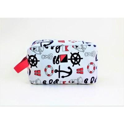 9243- ANCHOR DESIGN COSMETIC BAG