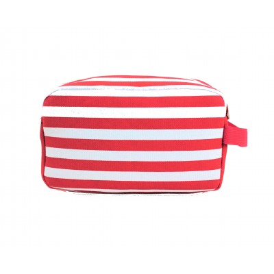 9241- RED & WHITE STRIPE COSMETIC BAG