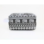 9244- GREY ELEPHANT DESIGN COSMETIC BAG