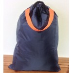 181244-NAVY PLAIN LAUNDRY OR UTILITY BAG W/ORANGE HANDLE