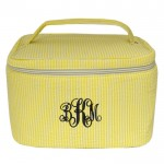 6004 - YELLOW SEER SUCKER COSMETIC BAG