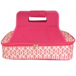 6031 -HOT PINK TRELLIS INSULATED CASSEROLE CARRIER W/HANDLE