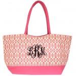 6038 -HOT PINK TRELLIS SHOPPING OR BEACH BAG