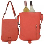 9002 - CORAL LEATHER WINE PURSE (PU)