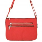 9003 - RED LONG STRAP CROSSBODY MESSENGER BAG