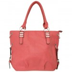 9005 - CORAL LEATHER DESIGNER PURSE