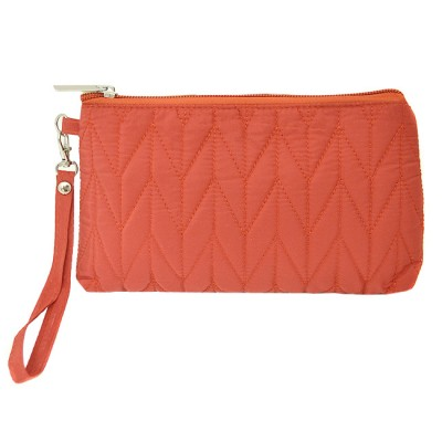 9007 - CORAL QUILTED COSMETIC POUCH