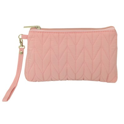 9007 - PINK QUILTED COSMETIC POUCH