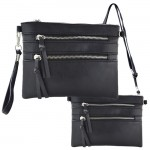 9039A - BLACK CROSSBODY MESSENGER BAG
