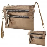 9039A - BRONZE CROSSBODY MESSENGER BAG