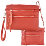 9039A - CORAL CROSSBODY MESSENGER BAG