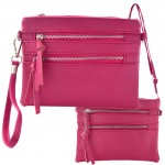 9039A - HOTPINK CROSSBODY MESSENGER BAG