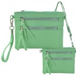 9039A - MINT CROSSBODY MESSENGER BAG