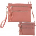 9039A - PINK CROSSBODY MESSENGER BAG