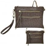 9039B - DARK BROWN OSTERIDGE CROSSBODY MESSENGER BAG
