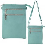 9040A - AQUA SMALL LONG STRAP CROSSBODYBAG