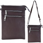 9040A - DARK BROWN SMALL LONG STRAP CROSSBODYBAG