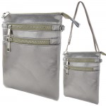 9040A - DARK SILVER SMALL LONG STRAP CROSSBODYBAG