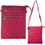 9040A - HOTPINK SMALL LONG STRAP CROSSBODYBAG