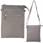 9040A - LIGHT GREY SMALL LONG STRAP CROSSBODYBAG