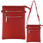 9040A - RED SMALL LONG STRAP CROSSBODYBAG
