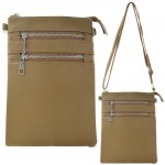 9040A - TAUPE SMALL LONG STRAP CROSSBODYBAG