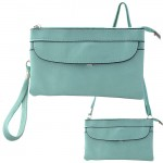9041 - AQUA SMALL CROSSBODY MESSENGER BAG