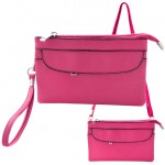 9041 - HOTPINK SMALL CROSSBODY MESSENGER BAG