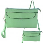 9041 - MINT SMALL CROSSBODY MESSENGER BAG