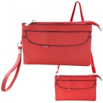 9041 - RED SMALL CROSSBODY MESSENGER BAG