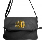 9014 - BLACK PU LEATHER CROSS BODY BAG