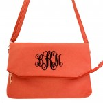 9014 - CORAL PU LEATHER CROSS BODY BAG