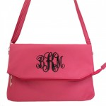 9014 - HOTPINK PU LEATHER CROSS BODY BAG