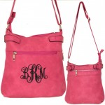 9030 - HOTPINK PU LEATHER CROSS BODY/ SHOULDER BAG