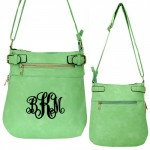 9030 - MINT PU LEATHER CROSS BODY/ SHOULDER BAG