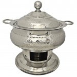 4058 - CHAFING DISH HAMMERED