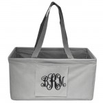 10013 - GREY SHOPPING BASKET OR UTILITY BASKET