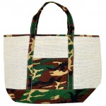 13CRCAM-CREAM CAMOUFLAGE JUTE BAG