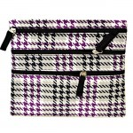 SMALL HOUNDSTOOTH PURPLE BAG