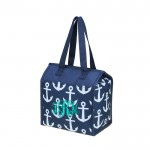 32533 - NAVY MULTI ANCHOR  INSULATED LUNCH BAG