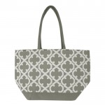 32552-GREY QUATREFOIL  DESIGN INSULATED ICE BAG
