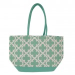 32553 - AQUA QUATREFOIL  DESIGN INSULATED ICE BAG