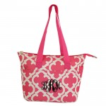 6044 - PINK QUATREFOIL DESIGN INSULATED LUNCH BAG