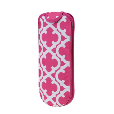 6055 - PINK QUATREFOIL INSULATED FLAT OR CURLING IRON HOLDER