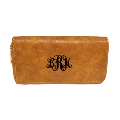 9071 - CAMEL PU LEATHER FASHION WALLET