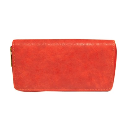 9071 - RED PU LEATHER FASHION WALLET