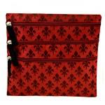 SMALL RED FLEUR DE LIS  BAG