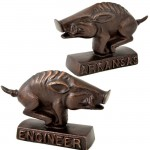 22379C-COPPER RAZORBACK PAPER WEIGHT