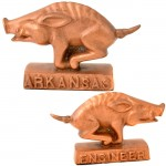 22379B-BRASS COLOR RAZORBACK PAPER WEIGHT